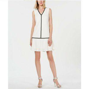 Calvin Klein 10 White Eyelet Dress NWT AZ20